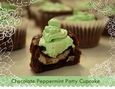 Chocolate York Peppermint Patty Cupcake Recipe…