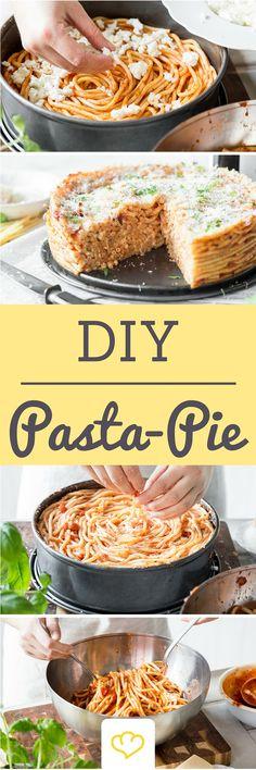 Pasta-Pie oder auch Maccharoni-Torte - Perfekt für die nächste Party!