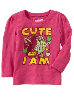 "Old Navy | Star Wars&#153 ""Cute I Am!"" Tees for Baby"