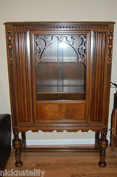 Berkey and Gay Antique China Cabinet All Original | eBay