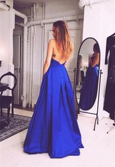 Charming Royal Blue Prom Dress,Sexy Sleeveless Evening Dress,Sexy Open Back Prom Dress sold by shedresses. Shop more products from shedresses on Storenvy, the home of independent small businesses all over the world.
