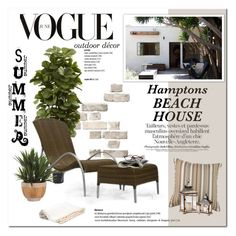 Beach House by cruzeirodotejo on Polyvore featuring interior, interiors, interior design, home, home decor, interior decorating, Dosa, Ethan Allen, Nearly Natural and Lux-Art Silks