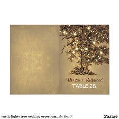 rustic lights tree wedding escort cards