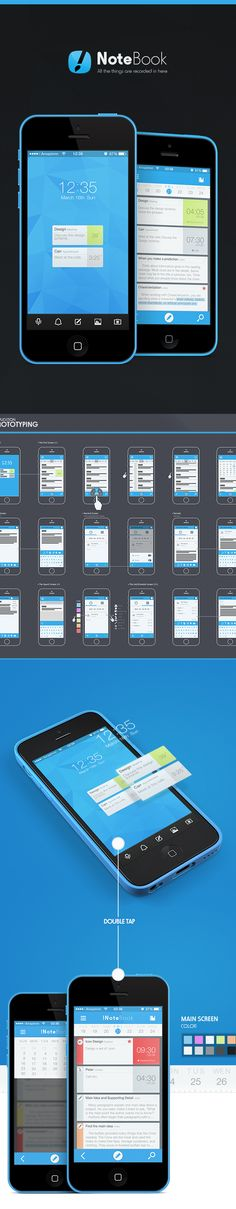 !NoteBook app on App Design Served