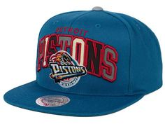 3524af15e78b5 Detroit Pistons Mitchell and Ness NBA Reflective Tri Pop Snapback Cap  Detroit Pistons