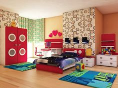 Kids room - children bedroom - Visualization by Leopard Cana, via Behance