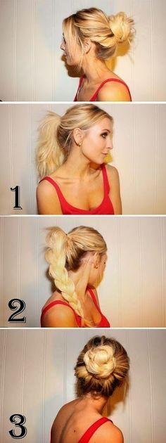 10 Idées de coiffures faciles à faire   Coiffure simple et facile