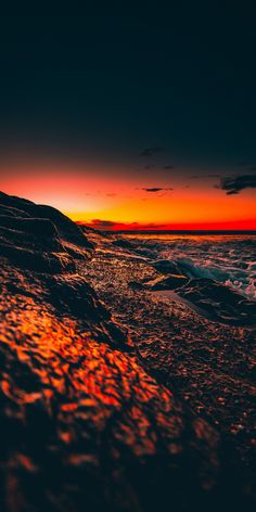 Beach, foam, sunset, close up wallpaper