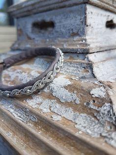 Armband Elisa aus delfingrauem Leder