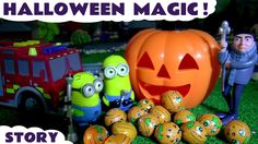 Halloween Minions Magic with Gru Thomas & Friends and Tonka Trucks Toys and Cars for Kids Fun TT4U - YouTube