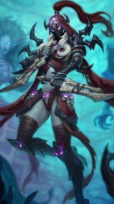 Knights of the Frozen Throne Hintergrundbilder - Hearthstone Top Decks - Anime Dark Fantasy Art, Fantasy Girl, Fantasy Artwork, World Of Warcraft 3, Warcraft Art, Fantasy Characters, Female Characters, Hearthstone Wallpaper, Hearthstone Heroes
