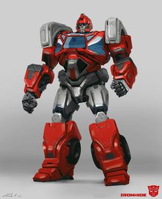 Ironhide from Transformers: Bumblebee. Funny how this was designed first and it's not that featured that much in the final movie. Ironhide Transformers, Transformers Bumblebee, Transformers Prime, Optimus Prime, The Final Movie, Transformer 1, Transformers Characters, Cultura Pop, Robot