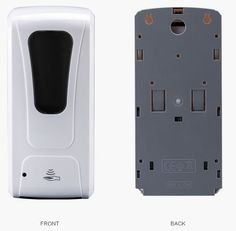 Auto No-Touch Hand Sanitizer Dispenser with Pour In Refillable Hand Sanitizer Container for Liquid Style Hand Sanitizer is hands-free infection prevention dispenser designed to be used with any brand liquid style hand sanitizer.