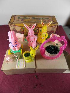 7 Vintage Rosen Rosbro Plastic Easter Surprise Toys In The Original Box Rabbit   eBay