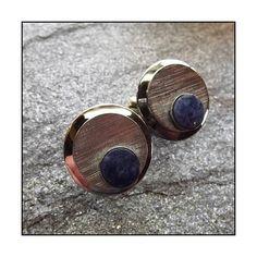 Joseph Vastano Vintage Cufflinks Silver Lapis Orbs 1950s Mens Jewelry ($95) via Polyvore