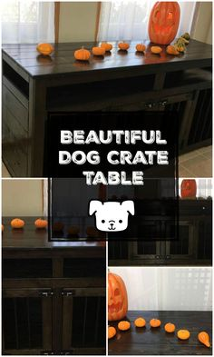 I have been looking for a dog crate table just like this! It is beautiful and would blend in nicely with my furniture and decor.l #doglover #pet #ad #dogcrate