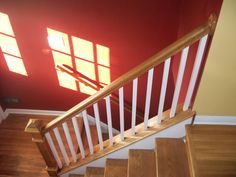 Image result for carpeted stairs with railings