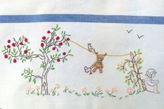 Rosie & Bear Wash Day Embroidery