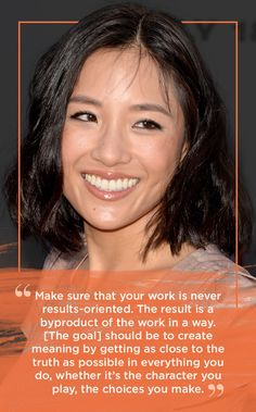 11 Downright Inspiring Quotes From Constance Wu -- real success Create Meaning, Fresh Off The Boat, Constance Wu, Influential People, Words Worth, Brunette Hair, No Response, Improve Yourself, Life Quotes