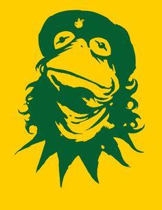 Muppets t-shirt Viva La Frog Funny Muppets Che by VincentCarrozza