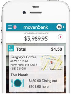 First look at Movenbank's mobile banking app.