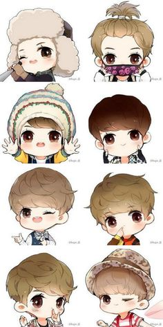 Find images and videos about cute, exo and luhan on We Heart It - the app to get lost in what you love. Exo Anime, Anime Art, Chanyeol Baekhyun, Exo Fan Art, Kpop Drawings, Hunhan, Cute Chibi, Kpop Fanart, K Idols