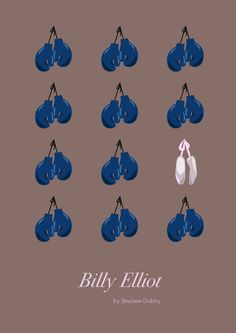 Woah, I love this poster. Billy Elliot ~ Minimal Movie Poster by Daria Shubina Best Movie Posters, Minimal Movie Posters, Minimal Poster, Movie Poster Art, Poster S, Cool Posters, Billy Elliot, Films Cinema, Cinema Posters