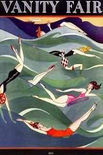 "1924 cover of ""Vanity Fair,"" illustration by house artist""Fish."" via glamoursplash"