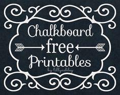 Make it Create by LillyAshley...Freebie Downloads: Freebie Scallop Frame Chalkboard Printables