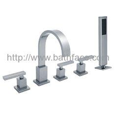 Brass Deck Mounted 5 hole Bath Tap Bath Mixer, Bath Taps, Sink, Chrome, Brass, Ceramics, Bathroom, Home Decor, Sink Tops