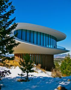 the Space House (Denver, Colorado) featured in Woody Allen's 'Sleeper' State Of Colorado, Colorado Homes, Denver Colorado, Architecture Details, Modern Architecture, Steel Structure Buildings, Study Room Design, Colani, House Photography