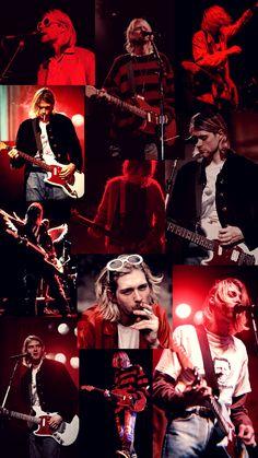 Kurt Cobain Photos, Nirvana Kurt Cobain, Rock Tumblr, Nirvana Lyrics, Nirvana Art, Vintage Style Wallpaper, Rock Band Posters, Donald Cobain, Music Collage