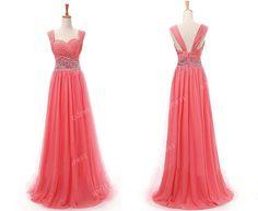 off shoulder prom dress long prom dresses chiffon by sofitdress, $129.00  can't say i love it but i like the idea