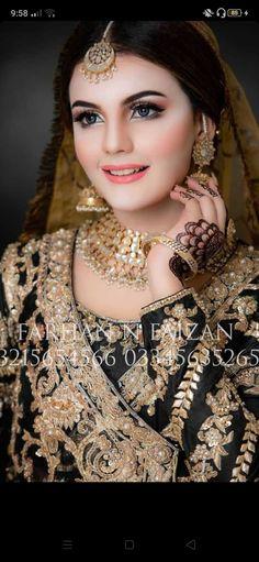 Bridal Makeup Looks, Bride Makeup, Bridal Beauty, Pakistani Bridal Makeup, Pakistani Bridal Dresses, Black Dress Makeup, Bridal Jewellery Inspiration, Pakistan Wedding, Bridal Photoshoot