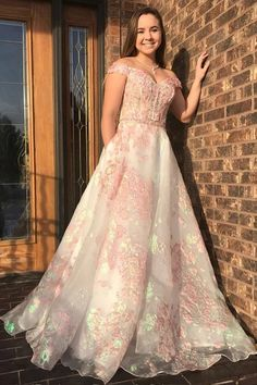This dress could be custom made, there are no extra cost to do custom size and color, Luxury Off the Shoulder Sweetheart Pink Lace Appliques Prom Dress with Make Your Own Dress, Dress For You, Prom Dresses With Pockets, Tulle Prom Dress, Custom Dresses, Lace Applique, Pink Lace, Martini, Formal Dresses