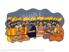 Tongues of fire. // Pentecost - Lamp Bible Pictures