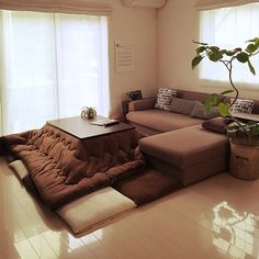 kotatsu: cozy, warm, good for eating/sleeping/reading Living Room Inspo, Decor, Furniture, Interior Design, Japanese Home Decor, Home Decor, House Interior, Room Decor, Home Deco