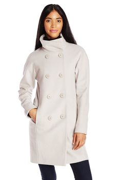 T Tahari Women's Eliat Wool Coat Macrame Cashmere Coat, Anne Klein, Wool Coat, Double Breasted, Define Outfit, Raincoat, Stylish, How To Wear, Jackets