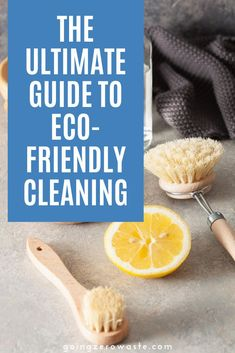 Switching to an eco-friendly zero-waste cleaning routine has been one of the best things I've done for my wallet, health, and the environment. If you're just starting to try and reduce your waste, I think starting with your cleaning caddy is a great idea.  I'm sharing the ultimate guide to eco-friendly cleaning. #ecofriendlycleaning #lowcarbcleaning