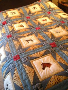 Bluebird Gardens Quilts and Gifts Bargello Quilts, Scrappy Quilts, Cute Quilts, Baby Quilts, Panel Quilts, Quilt Blocks, Wildlife Quilts, Western Quilts, Cowboy Quilt
