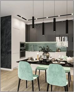 62 Modern Kitchen Interior Designs That Rock Your Cooking World ~ House Design Ideas Simple Kitchen Design, Kitchen Room Design, Dining Room Design, Home Decor Kitchen, Interior Design Kitchen, Interior Modern, Kitchen Designs, Modern Luxury, Kitchen Ideas