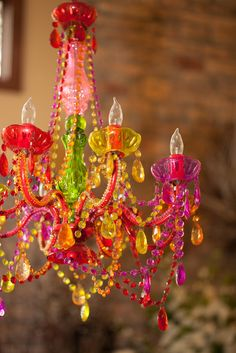 colorful crystals for a rainbow wedding ceremony