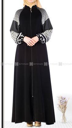 Batik Fashion, Abaya Fashion, Fashion Dresses, Dress With Cardigan, The Dress, Burqa Designs, Simple Dresses, Dresses With Sleeves, Mode Abaya