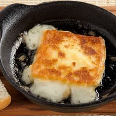 Saganaki. OPA! A pan-seared cheese made with ouzo is a Favorite appetizer in Greek restaurants.