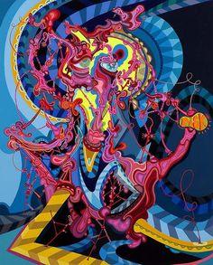 """Erik Parker Paints Subversive, Psychedelic Visions In B/D's Magazine About The """"Public Enemy"""""""