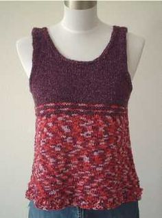 Free Knitting Pattern For Toddlers Tank Top : Knitting-adult vests & tank tops on Pinterest Drops Design, Ravelry and...