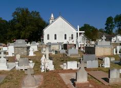 Historic cemetery in Natchitoches, Louisiana