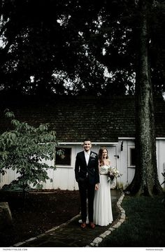 A beautiful two piece strapless wedding dress with loose hair and elegant jewellery and groom in a black suit - bouquet with soft pink and green touches Groom And Groomsmen, Bride Groom, Wedding Bride, Dream Wedding, Dusty Pink Dresses, Black Bridesmaid Dresses, Wedding Dresses, Bridesmaids, Outdoor Wedding Inspiration
