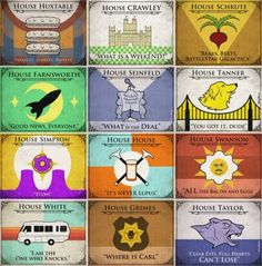 Sigils and words of the OTHER television households.