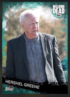 Hershel Greene (Teal Parallel) Award Insert Card The Walking Dead 2016 Topps
